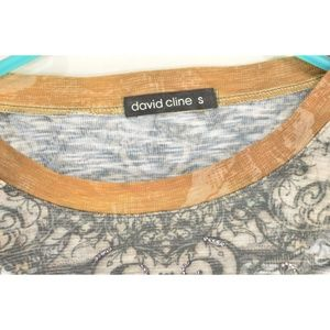 David Cline Tops - David Cline top pull on SZ S Cigar bling crinkle m